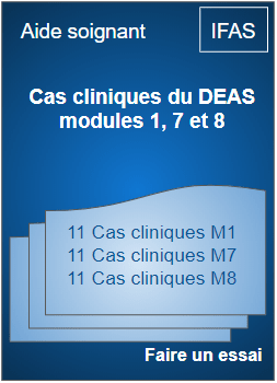 Aide soignante cas clinique du DEAS Module  1 7 8