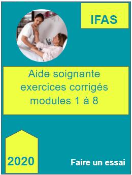 Aide soignante exercices avec corriges modules 1 a 8