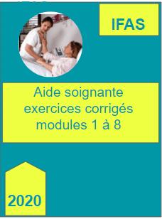 Aide soignante exercices avec corriges modules 1 a 8 min 2