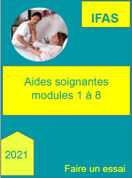 Aide soignante modules 1 a 8