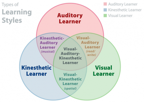 Learning styles venn diagram vark