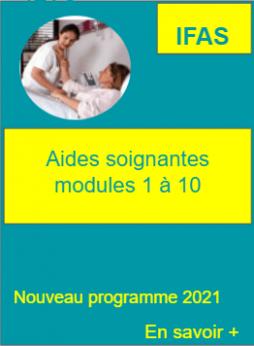 Nouveau programme aides soignantes modules 1 a 10