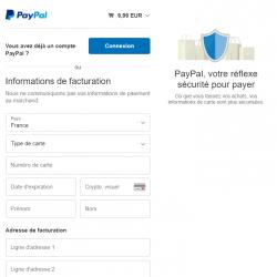 Payer avec votre CB ou par votre compte Paypal